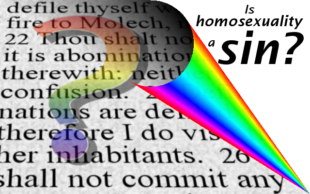 Homosexuality is a sin verse